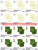 Baylor Bears Waco Texas University football Embroidery Designs