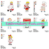 Campbell's Kids Embroidery Designs