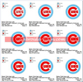 CHICAGO CUBS MLB LOGO EMBROIDERY MACHINE DESIGNS
