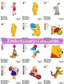 CLASSIC POOH DISNEY EMBROIDERY DESIGNS