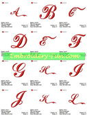 COCA COLA FONT ALPHABETS EMBROIDERY DESIGNS