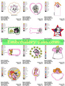 DISNEY BEST PALS CHARACTERS EMBROIDERY DESIGNS
