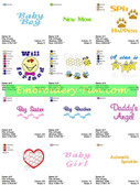 DOWNLOAD BABY SAYINGS  EMBROIDERY DESIGNS