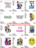 HAPPY FATHERS DAY DAD LOVE EMBROIDERY DESIGNS