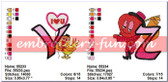 HEART ALPHABETS EMBROIDERY DESIGNS PATTERNS