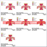 IOWA STATE UNIVERSITY CYCLONES EMBROIDERY MACHINE DESIGNS