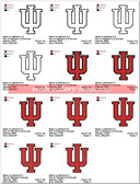 IU Indiana University Indiana Hoosiers  EMBROIDERY MACHINE DESIGNS