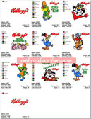 KELLOGGS Machine Embroidery Designs Patterns