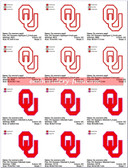 Oklahoma Sooners Stitched & Applique SPORTS LOGO EMBROIDERY DESIGNS