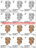 San Francisco Giants MLB sf Stitched & Applique SPORTS LOGO EMBROIDERY DESIGNS