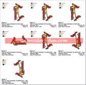 ST LOUIS CARDINALS 2 BIRDS LOGO EMBROIDERY DESIGNS