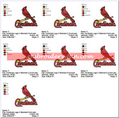 ST LOUIS CARDINALS BASEBALL SPORTS LOGO EMBROIDERY DESIGNS