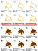 Texas State University Bobcats Logo Sports Embroidery Designs