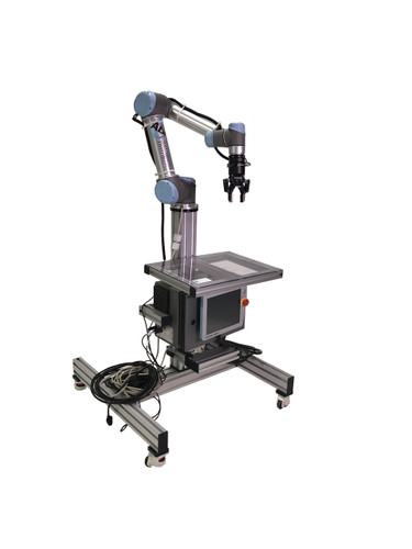 Manufacturing Robot with Mobile Stand, 2-Finger Gripper, Camera, Force Torque Sensor by Universal Robots and Robotiq