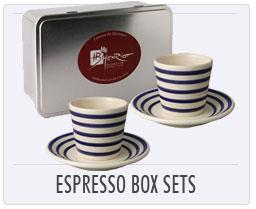 Quimper French Pottery Espresso Box Sets