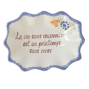 Decorative Dish - Life Without Memories