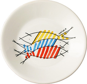 Miniature Plate - Happy Fish