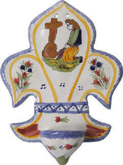 Holy Water Font - Woman Praying