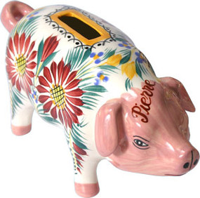 Piggy Bank Fleuri - Personalized