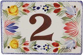 House Plate - Decor Fleuri Royal