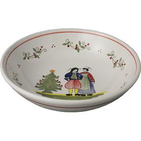 Quimper Serving Bowl, Decor Spirit of Christmas
