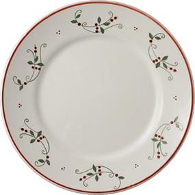 Quimper Dinner Plate Plain Garland - Decor Spirit of Christmas