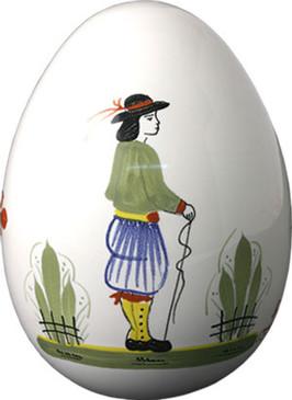 Decorative Egg - Man - Henriot