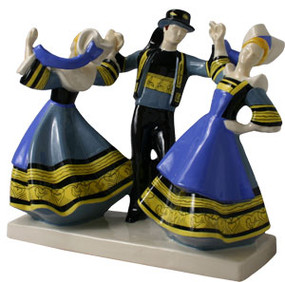 Three Dancers from Pont Aven by Micheau Vernez