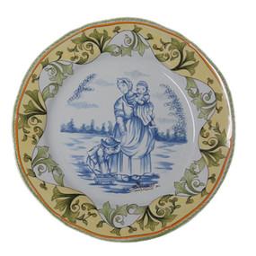 Wall Plate w/ Mother & Children - Prestige Porquier Beau
