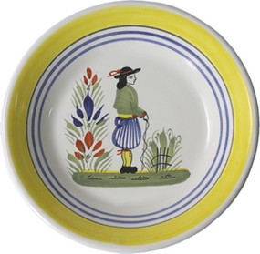Miniature Plate - Man - Henriot
