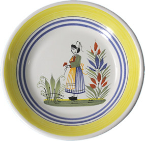 Miniature Plate - Woman - Henriot