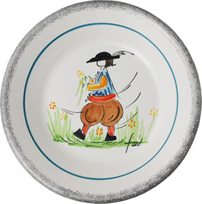 Miniature Plate - Man - Fred Quellac