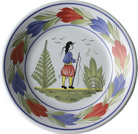 Miniature Plate - Man - Mistral Blue