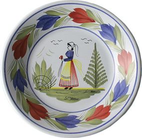 Miniature Plate - Woman - Mistral Blue