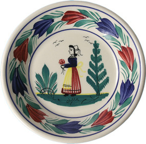 Miniature Plate - Woman - Campagne