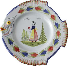 Fish Plate - Mistral Blue  sc 1 st  Quimper Pottery Henriot Faience & Quimper Plates Wall Plates Dinnerware