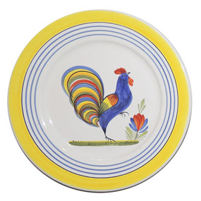 Round Plate - Henriot - Rooster