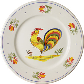Round Plate - French Rooster