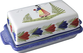 Covered Butter Dish - Mistral Blue