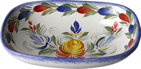 Open Butter Dish/ Soap Dish - Fleuri Royal