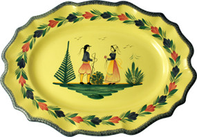Large Scalloped Platter - Soleil Yellow
