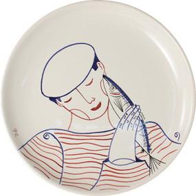 Cake Plate - Fisherman
