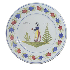 Round Plate - Mistral Blue - Woman