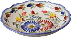 Fluted Soup Plate - Fleuri Royal