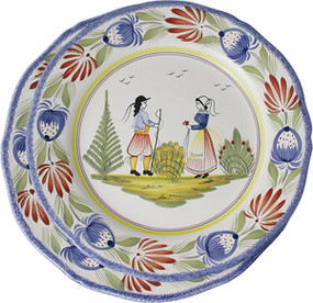 Fluted Plate - Tradition - Couple