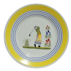 Round Plate - Golf - Woman