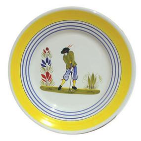 Round Plate - Golf - Man