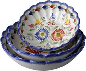 Scalloped Serving Bowls - Fleuri Royal