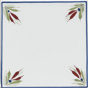 Flowers Corners - Mistral Blue Tile