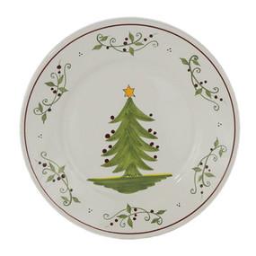 "Quimper Round Plate 7"" - Tree - Decor Spirit of Christmas"